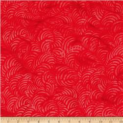 Tonga Batik Rising Sun Faux Painting Cherry