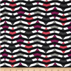 Fashionista Jersey Knit Diamond Chevron Pink