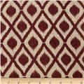 Printed Burlap Mini Ikat Wine