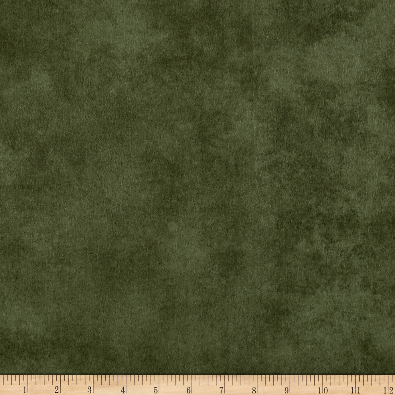 Folk Art Flannels Hand Dyed Background Green Fabric by Henry Glass in USA