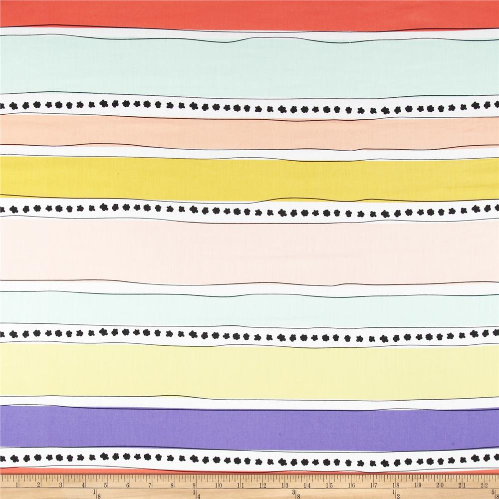 Art Gallery Geometric Bliss Voile Mobius Stripe Warm