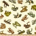 Kanvas Tropical Rainforest Amazon Frogs Cream