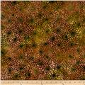 Batavian Batiks Packed Sunflowers Green Red