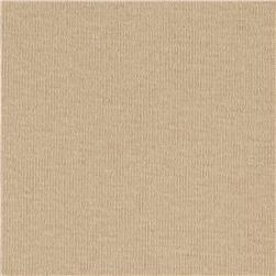 Cotton Baby Rib Knit Solid Sand Fabric