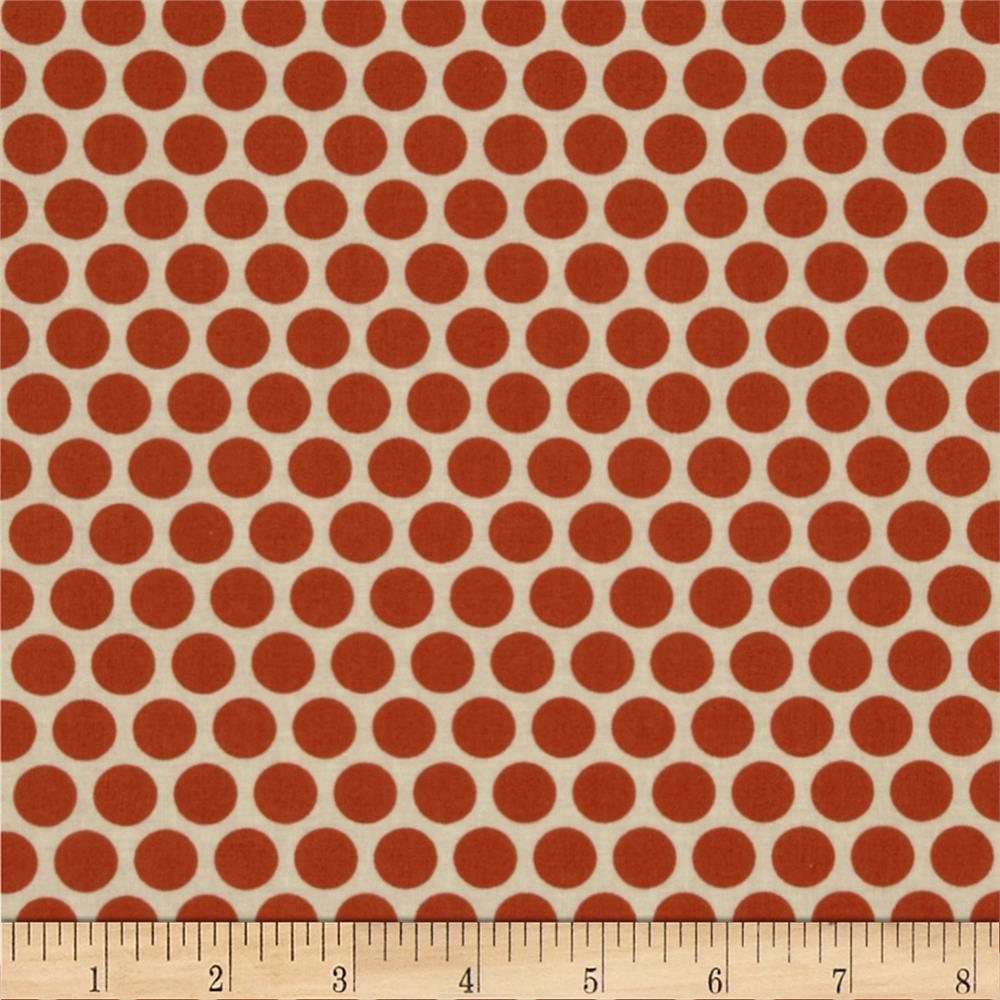 Retro Geo Polka Dot White/Orange