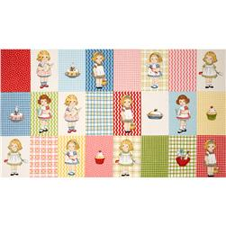 Penny Rose Paper Dolls Bakery Paper Dolls 24'' Panel Multi