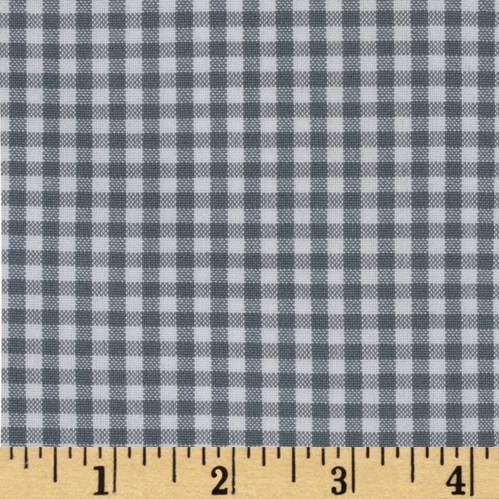 Kaufman 1/8'' Carolina Gingham Silver