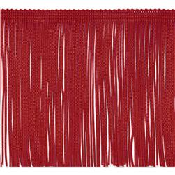 6'' Chainette Fringe Trim Red