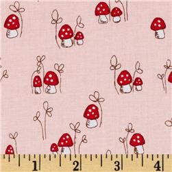 Riley Blake Little Red Riding Hood Little Mushrooms Pink