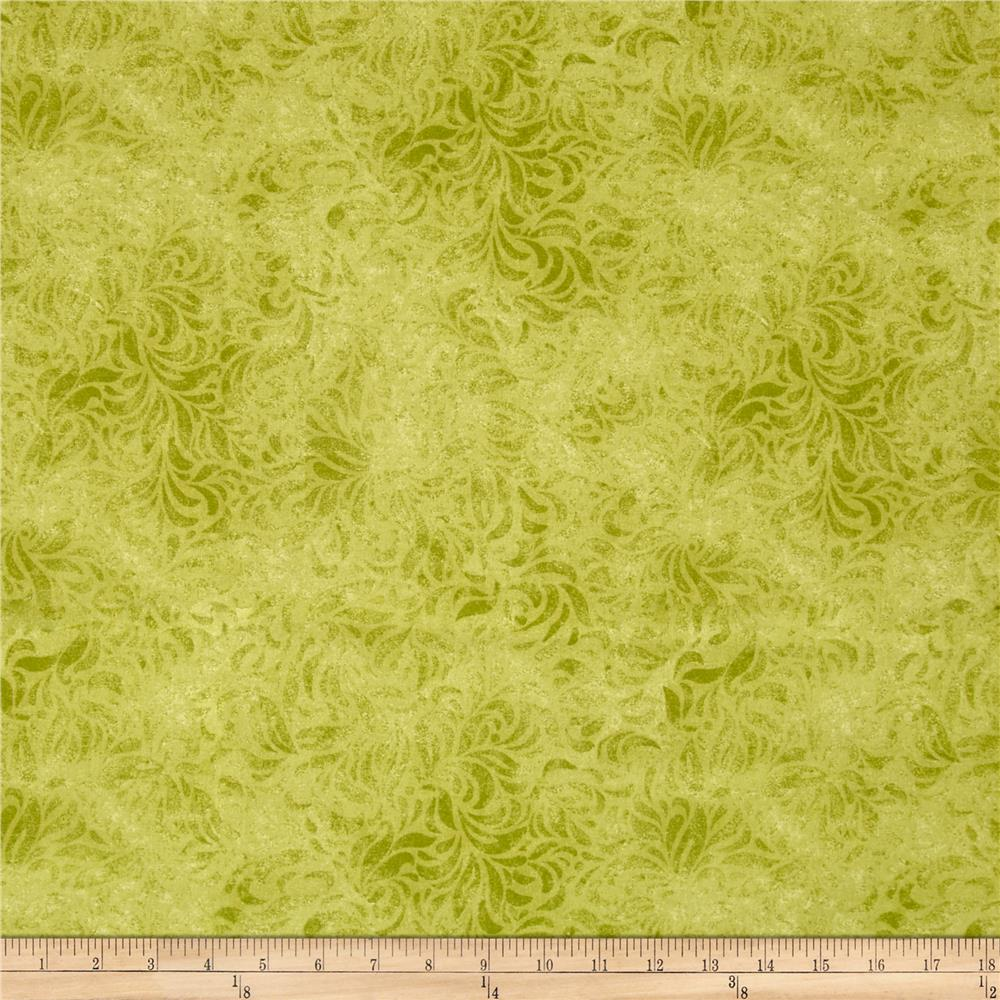 "110"" Wide Quilt Back Bella Suede Lime Green"