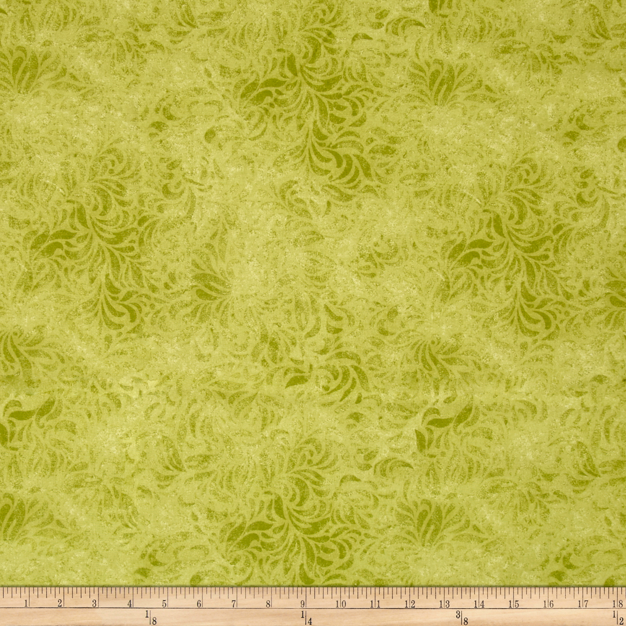 110'' Wide Quilt Back Bella Suede Lime Green Fabric by P & B in USA