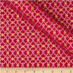 Alchemy Metallic Link-Knot Hot Pink