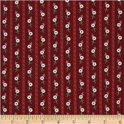 Molly B's 1800's Simply Christmas Floral Stripe Red
