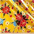 Oil Cloth Hibiscus Yellow