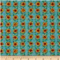 Pleasant Farm Sunflower Stripe Brooke Blue