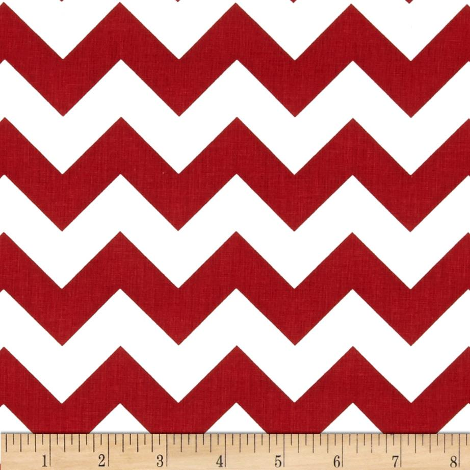 "Riley Blake 58"" Manufactures Cut Medium Chevron Crimson"