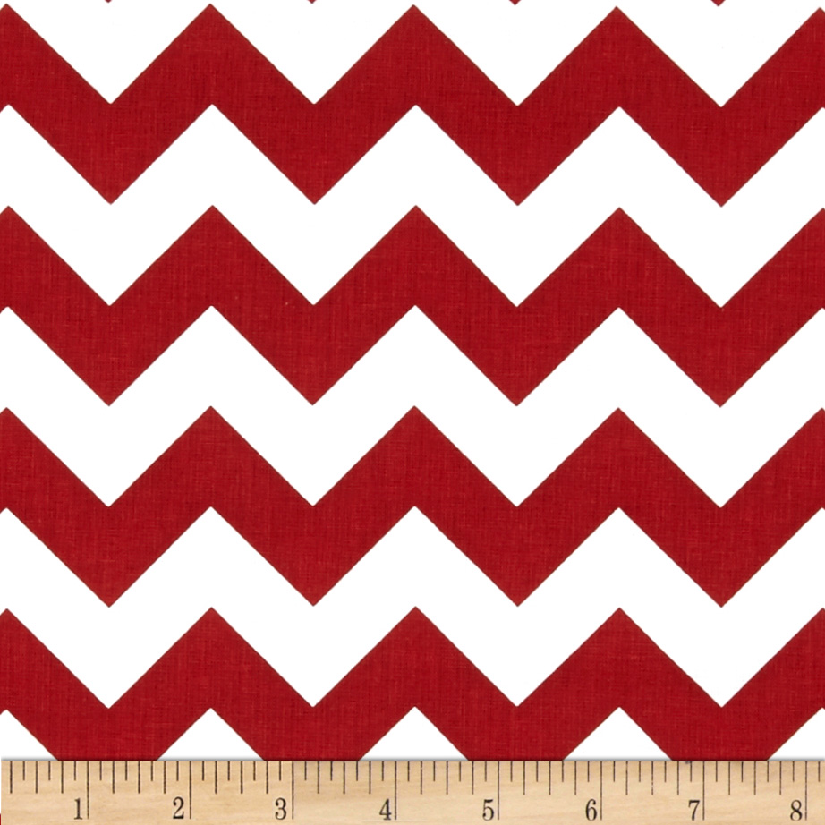 Riley Blake 58'' Manufactures Cut Medium Chevron Crimson