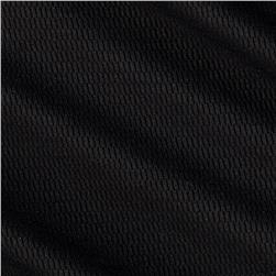 Stretch Performance Pique Knit Black