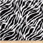Charmeuse Satin Large Zebra Black/White