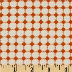 Retro-Spective Collection Dots & Circles Orange/Cream