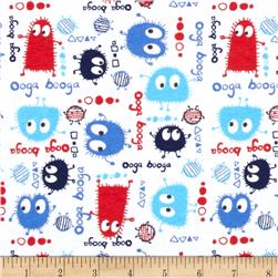 Patriotic Ooga Boogas Stretch Cotton Jersey Knit Red/Blue