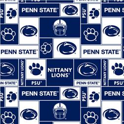 Collegiate Fleece Penn State University Blocks Fabric