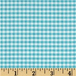 Riley Blake Small Gingham Aqua