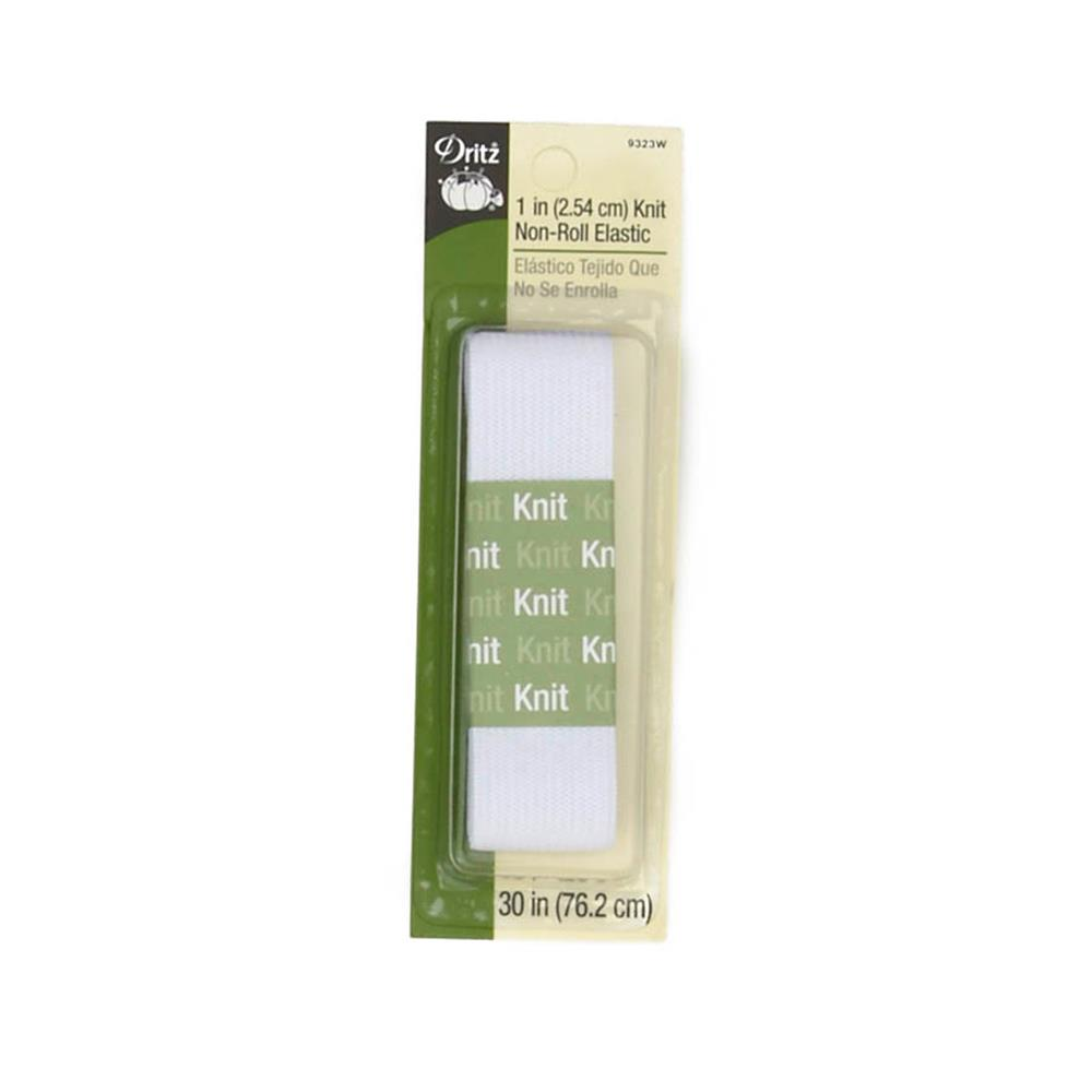 "Knit Non-Roll Elastic 1""X30""-White"