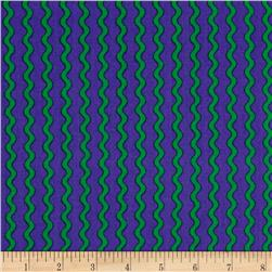 Under the Sea Zig Zag Lines Purple/Green