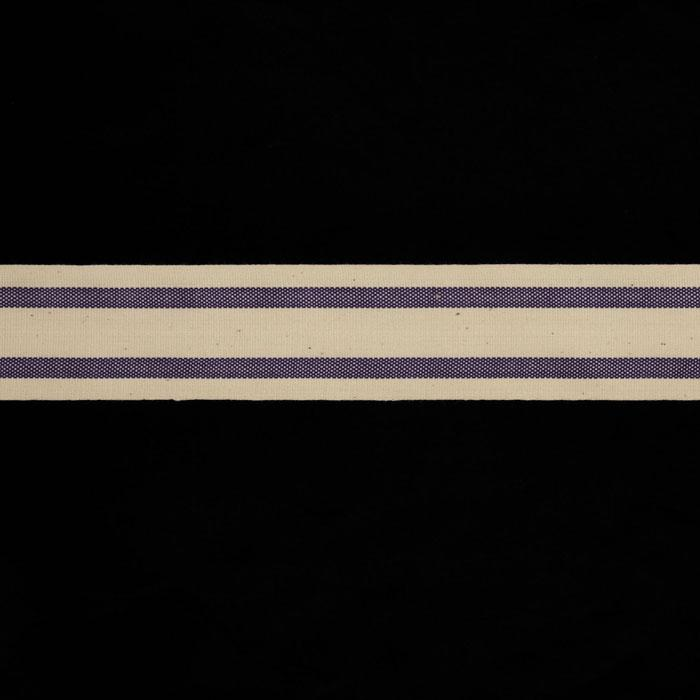 "1 1/2"" Woven Ribbon Stripes Purple"