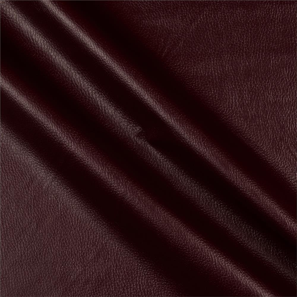 Flannel Backed Faux Leather Deluxe Burgundy