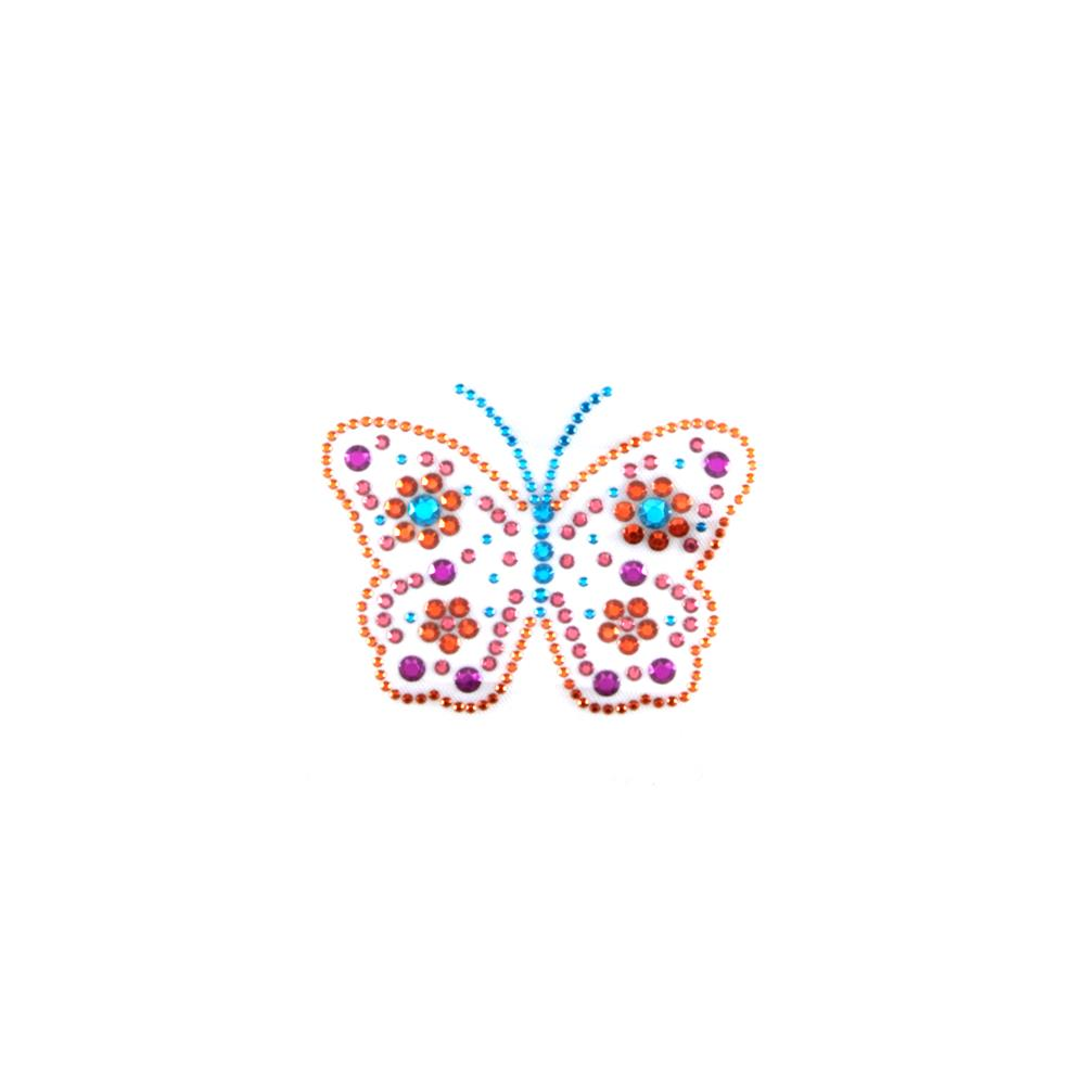 Butterfly Rhinestud Applique Brite