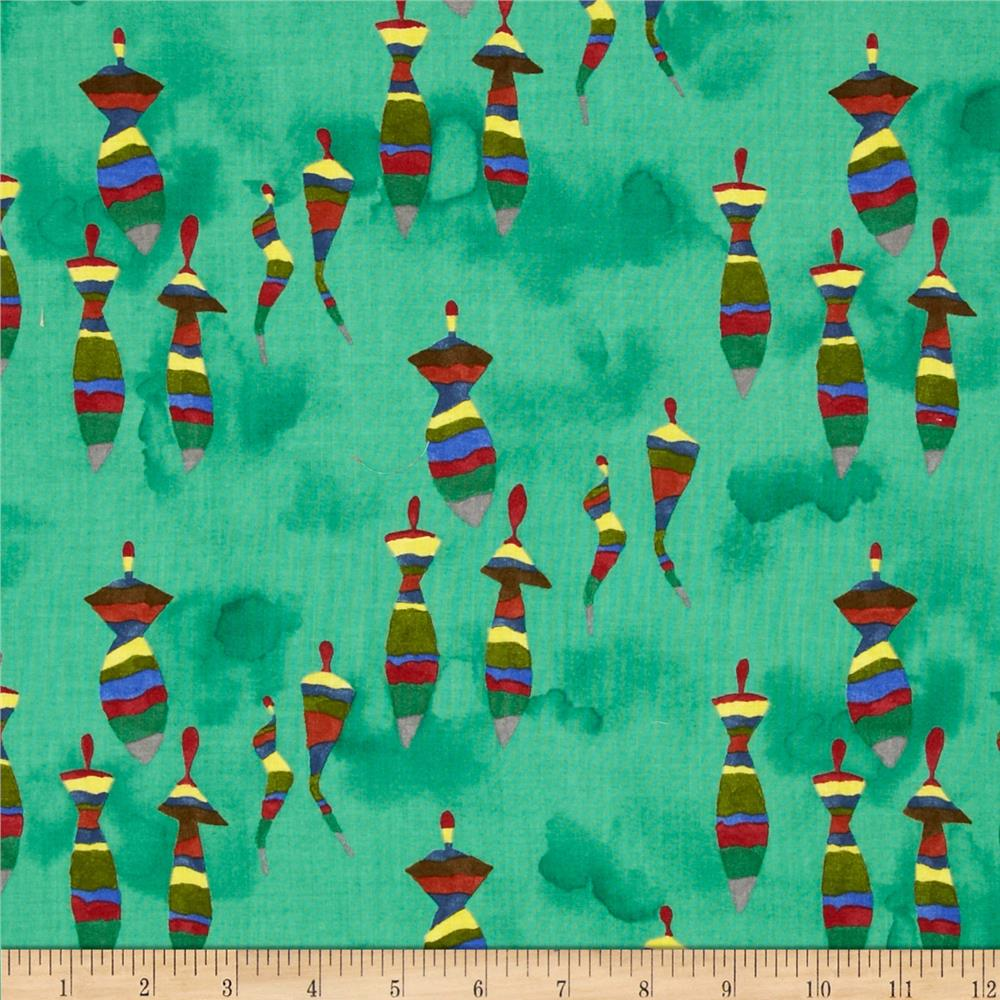 The Gathering Abstact Horizontal Miniature Tops Green