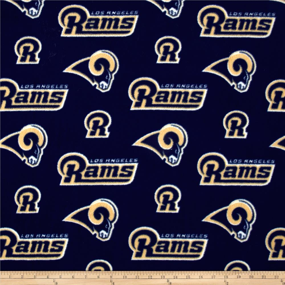NFL Fleece Los Angeles Rams Purple Fabric