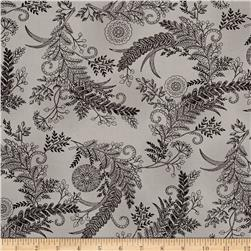 Moda Bee Inspired Botanical Sketch Pebble Grey