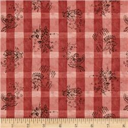 Moda Collections For A Cause Nurture Plaid Floral Rose