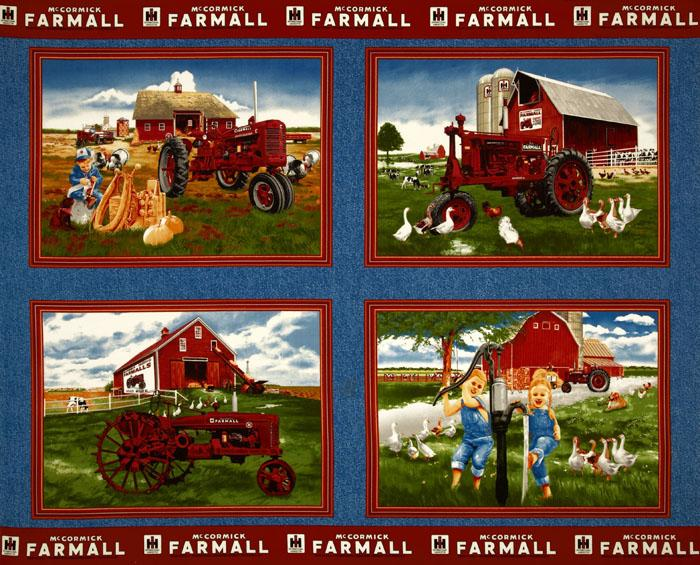 Farmall Red Tractor Panel