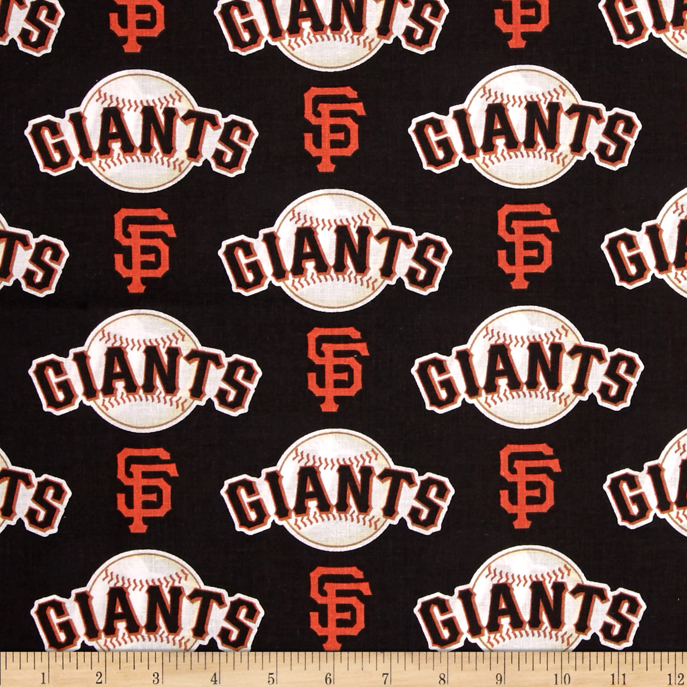 MLB Cotton Broadcloth San Francisco Giants Orange Fabric by Fabric Traditions in USA