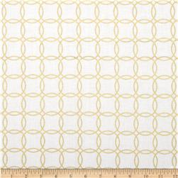 Metro Living Interlocking Circles Metallic Blanc