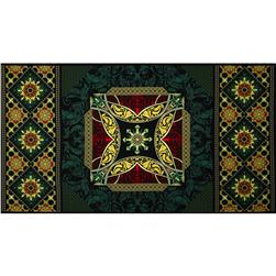 Star of Hope Panel Red/Green Fabric