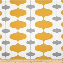Premier Prints Indoor/Outdoor Ivon Citrus Yellow/Grey