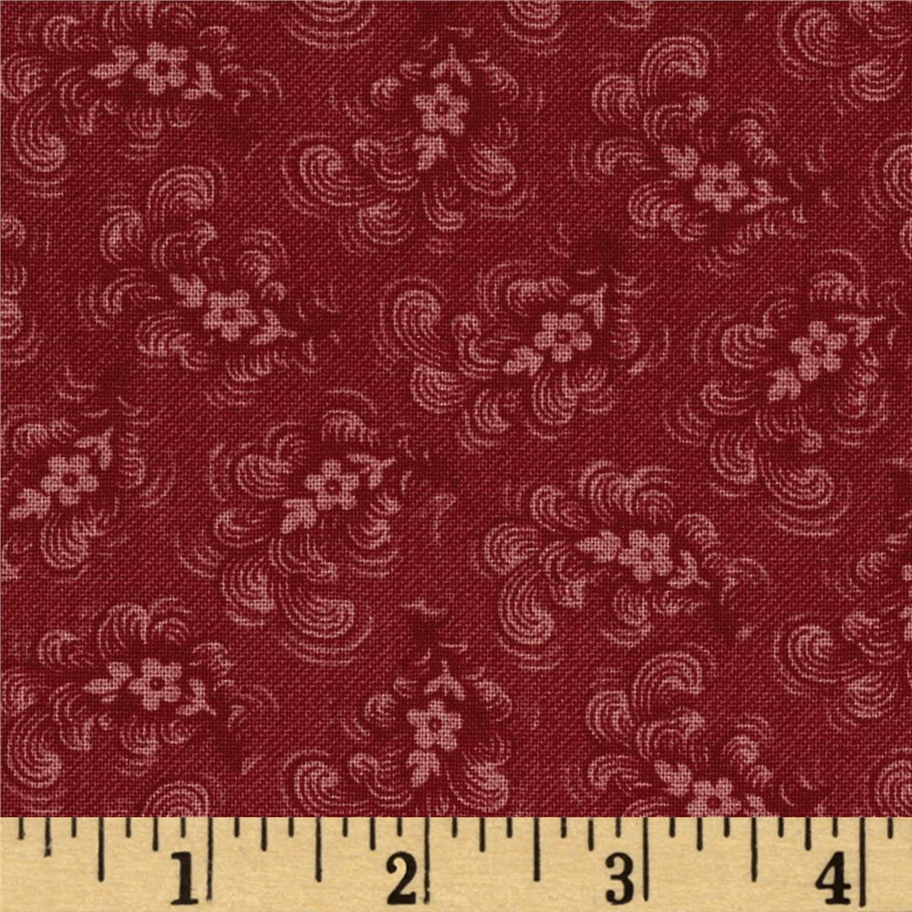 American Beauty Tonal Calico Red