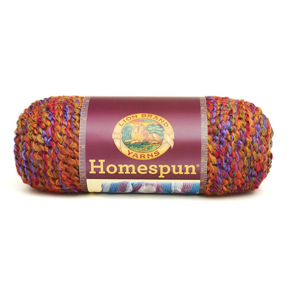 Lion Brand Homespun Yarn (345) Corinthian