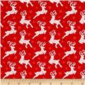 Contempo Nordic Holiday Small Reindeer Red