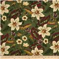 Thimbleberries Sweet Home Large Lilies Olive Green