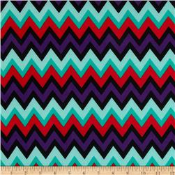 ITY Knit Aztec Purple/Red/Mint/Black