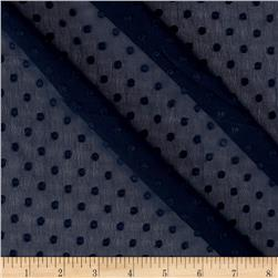Telio Betty Dobby Dot Chiffon Navy