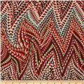 Venice Stretch ITY Jersey Knit Abstract Red/Multi