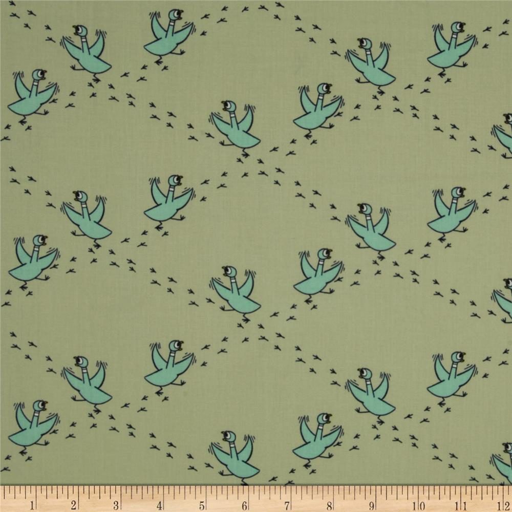 Don't Let the Pigeon Drive the Bus Organic Frenzied Mint/Blue