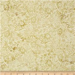 Modern Scrapbook Batik Graphic Floral Antique Beige